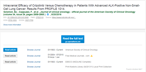 "Screenshot from Ovid link resolver of article: ""Intracranial efficacy..."""