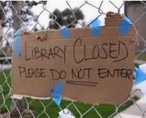 Library closed do not enter